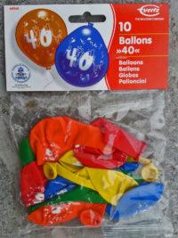 Zahlenluftballon mit Aufdruck 40