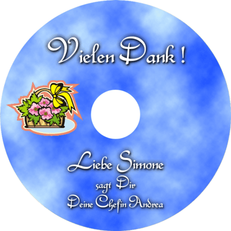 Persönliche Danke-CD