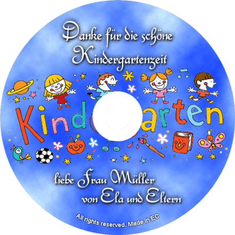 Danke-CD für die schöne Kindergartenzeit