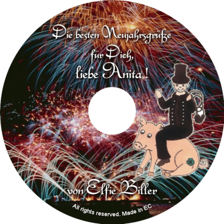 Persönliche Glückwunsch-CD-Neujahrsgrüße