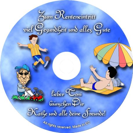 Persönliche Glückwunsch-CD-Renteneintritt