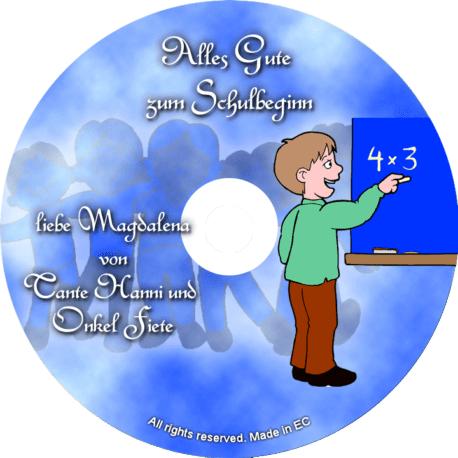 Persönliche Glückwunsch-CD Schulbeginn