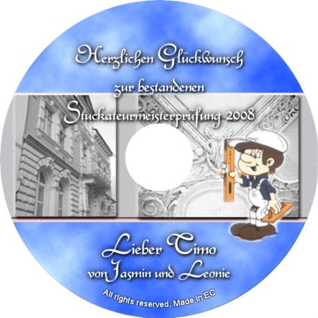 Persönliche Glückwunsch-CD Stuckateurpüfung