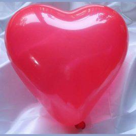 Herzluftballon rot