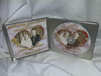 silberne CD-Geschenkverpackung