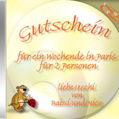 persönliche Gutschein-CD Cover - originelle kreativer ausgefallene Geschenkgutschene