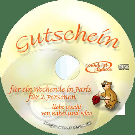 persönliche Gutschein-CD - originelle kreativer ausgefallene Geschenkgutschene