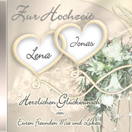 persönliche Hochzeits-CD Cover - personalisierte Geschenke zur Hochzeit