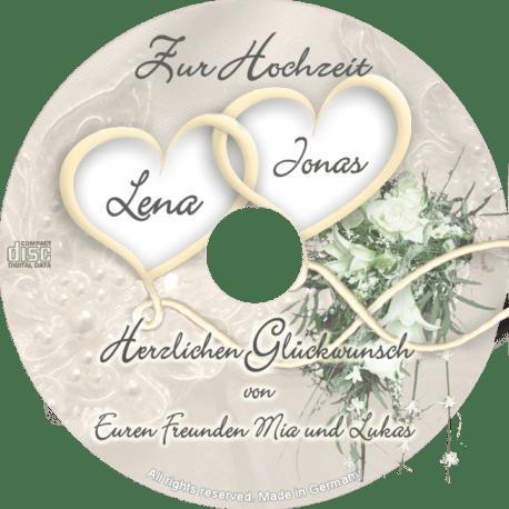 persönliche Hochzeits-CD - personalisierte Geschenke zur Hochzeit
