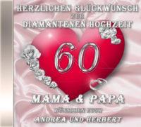 persönliche Diamanthochzeits-CD Cover - personalisierte Geschenke zur Diamantenen Hochzeit
