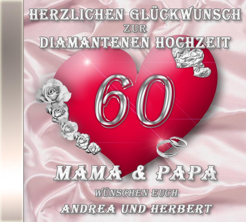 Hochzeit glückwünsche an zur die eltern diamantenen Glueckwuensche Brauteltern