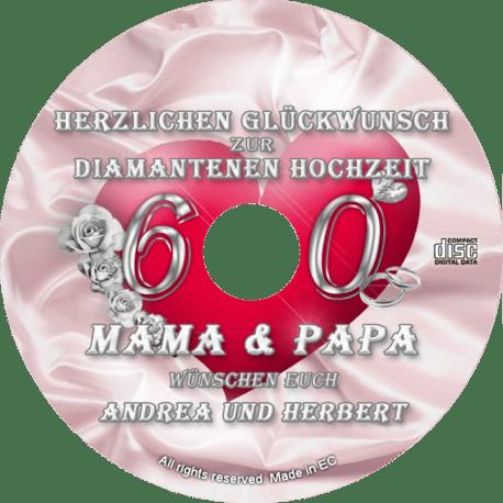 persönliche Diamanthochzeits-CD - personalisierte Geschenke zur Diamantenen Hochzeit
