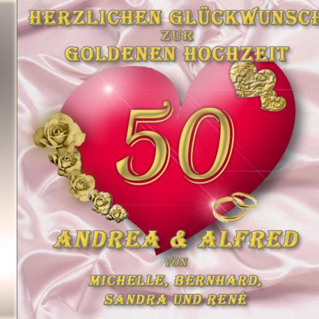 persönliche Goldhochzeits-CD Cover - personalisierte Geschenke zur Goldenen Hochzeit