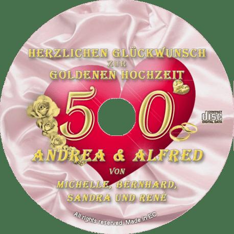 persönliche Goldhochzeits-CD - personalisierte Geschenke zur Goldenen Hochzeit
