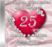persönliche Silberhochzeits-CD Cover - personalisierte Geschenke zur Silberhochzeit