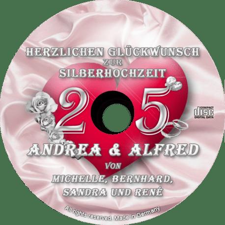 persönliche Silberhochzeits-CD - personalisierte Geschenke zur Silberhochzeit