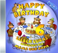 persönliche Kindergeburtstags-CD Cover - personalisierte Geburtstagsgeschenke für Kinder
