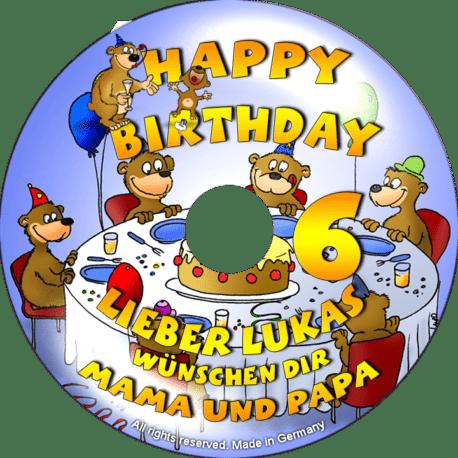 persönliche Kinder-Geburtstags-CD - personalisierte Geburtstagsgeschenke