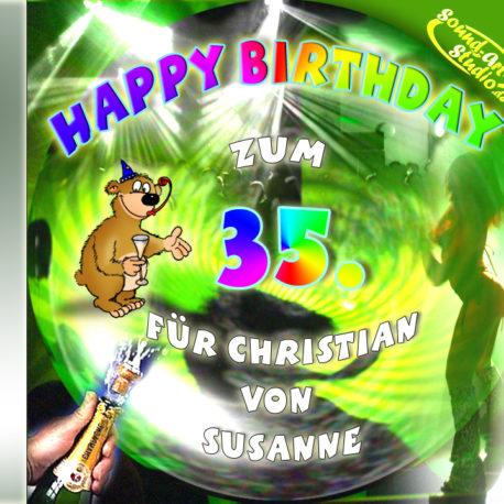 Persönliche Party-Geburtstags-CD Cover - personalisierte Geburtstagsgeschenke