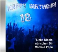 Persönliche Pop/Dance-Geburtstags-CD Cover - personalisierte Geburtstagsgeschenke