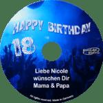 persönliche Pop/Dance-Geburtstags-CD - personalisierte Geburtstagsgeschenke
