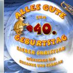 Persönliche Halbzeit-Geburtstags-CD Cover - personalisierte Geburtstagsgeschenke