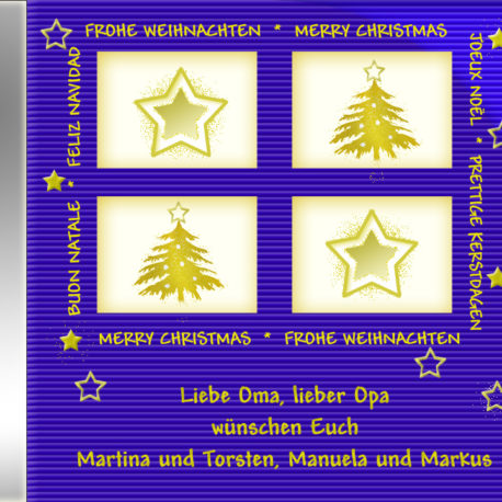 persönliche Weihnachts-CD Cover - personalisierte Weihnachtsgeschenke