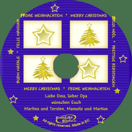 persönliche Weihnachts-CD Spiegel - personalisierte Weihnachtsgeschenke