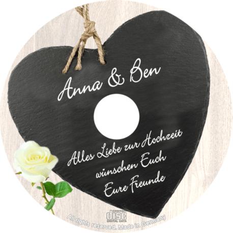 persönliche Hochzeits-CD Above Spiegel - personalisierte Geschenke zur Hochzeit