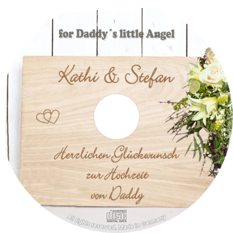 persönliche Hochzeits-CD Daddys Angel